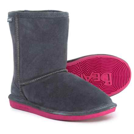 Bearpaw Eva Boots - Suede (For Little and Big Girls) in Charcoal/Pomberry - Closeouts