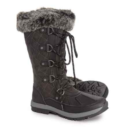 Bearpaw Gwyneth Tall Snow Boots - Waterproof (For Women) in Black/Gry - Closeouts