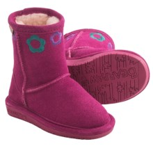 Bearpaw Jessie Sheepskin Boots - Suede (For Toddlers) in Pom Berry - Closeouts