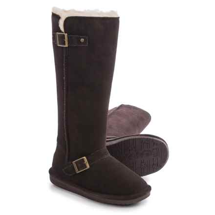 Bearpaw Johanna Sheepskin Boots - Suede (For Women) in Chocolate Ii - Closeouts