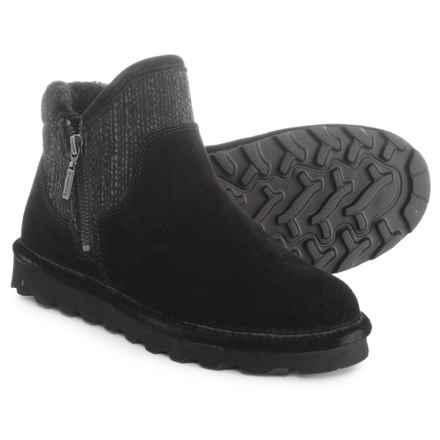 Bearpaw Josie Ankle Boots - Suede (For Women) in Black Ii - Closeouts