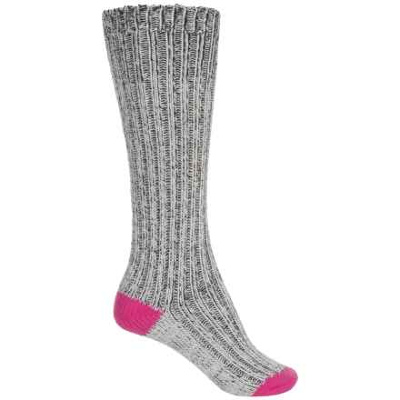 Bearpaw Knee-High Boot Socks - Over the Calf (For Big Girls) in Gray Lurex Pink - Closeouts