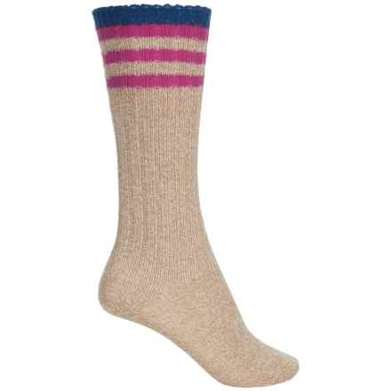 Bearpaw Knee-High Boot Socks - Over the Calf (For Big Girls) in Tan Marl - Closeouts