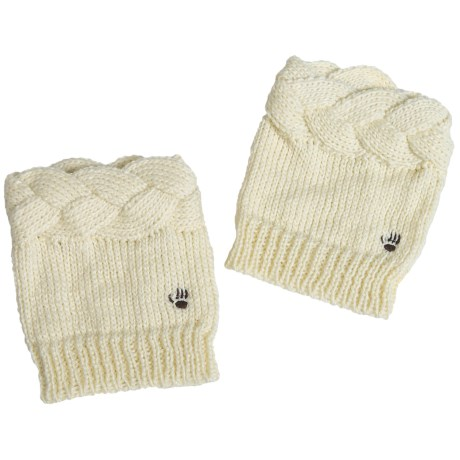 Bearpaw Knit Boot Toppers (For Women) in Ivory