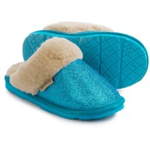 Bearpaw Laney Slippers (For Kid and Youth Girls) in Teal - Closeouts