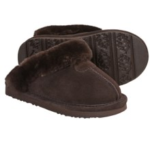 Bearpaw Loki II Slippers - Suede, Sheepskin Lining (For Kids and Youth) in Chocolate - Closeouts