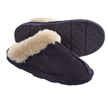 Bearpaw Loki II Slippers - Suede, Sheepskin Lining (For Women) in Concord