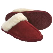 Bearpaw Loki II Slippers - Suede, Sheepskin Lining (For Women) in Redwood - Closeouts