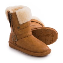 Bearpaw Madison Sheepskin Boots - Faux Leather (For Women) in Carmel - Closeouts