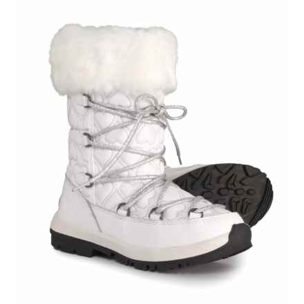 Bearpaw Meredith Sweetheart Boots - Waterproof (For Girls) in White/Silver - Closeouts