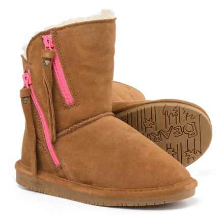 Bearpaw Mimi Winter Boots - Suede (For Little and Big Girls) in 220 Hickory Ii - Closeouts