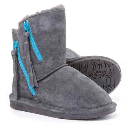 Bearpaw Mimi Winter Boots - Suede (For Little and Big Girls) in Charcoal - Closeouts