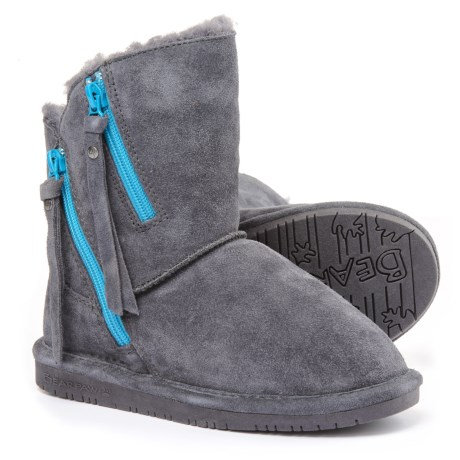 Bearpaw Mimi Winter Boots - Suede (For Little and Big Girls) in Charcoal