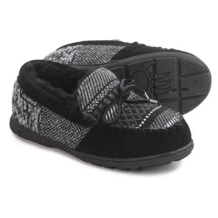 Bearpaw Mindy Slippers - Suede (For Women) in Black Patchwork - Closeouts
