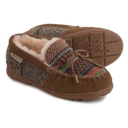 Bearpaw Mindy Slippers - Suede (For Women) in Hickory Patchwork - Closeouts