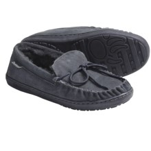 Bearpaw Moc II Shoes - Suede, Sheepskin Lining (For Men) in Charcoal - Closeouts