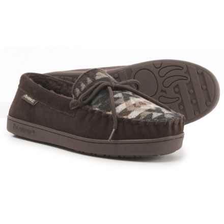 Bearpaw Moc II Shoes - Suede, Sheepskin Lining (For Men) in Chocolate Aztec - Closeouts