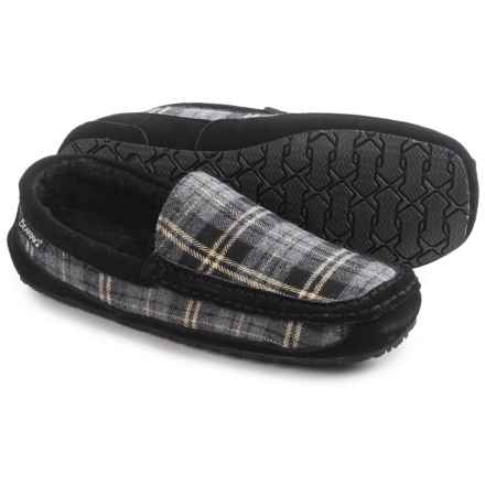 Bearpaw Peeta Slippers - Boiled Wool (For Men) in Black/Grey Plaid - Closeouts