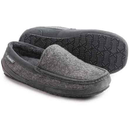 Bearpaw Peeta Slippers - Boiled Wool (For Men) in Charcoal/Grey - Closeouts