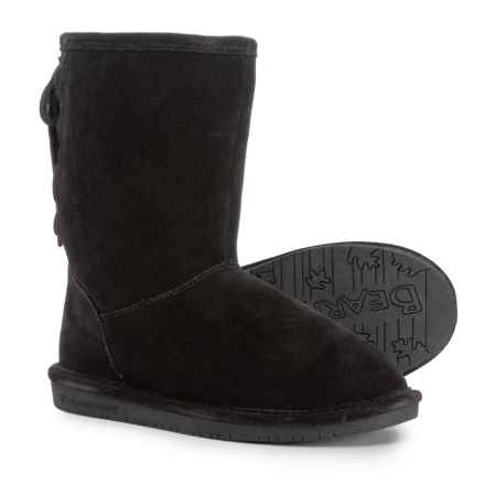 Bearpaw Phyllis Boots - Suede (For Girls) in Black - Closeouts