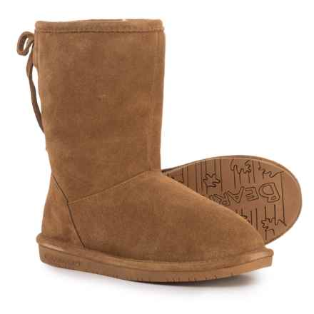 Bearpaw Phyllis Boots - Suede (For Girls) in Hickory - Closeouts
