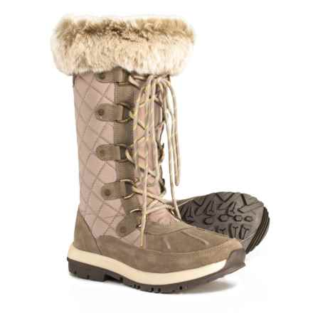 Bearpaw Quinevere Snow Boots - Waterproof (For Women) in Stone - Closeouts