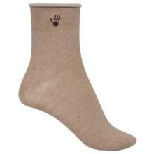Bearpaw Roll-Top Ankle Socks (For Women) in Latte - Closeouts