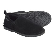 Bearpaw Romeo II Slippers - Suede, Sheepskin Lining (For Men) in Black - Closeouts