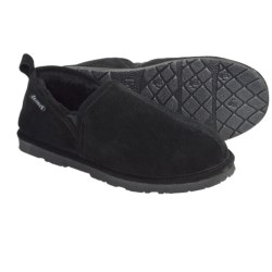 Bearpaw Romeo II Slippers - Suede, Sheepskin Lining (For Men) in Black