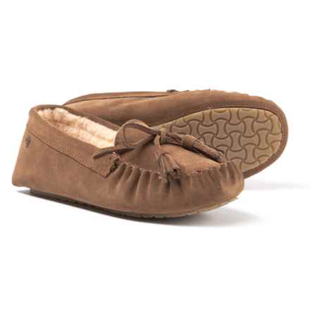 Bearpaw Rosalina Slippers - Suede (For Women) in Hickory  Ii - Closeouts