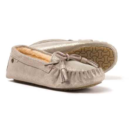 Bearpaw Rosalina Slippers - Suede (For Women) in Pewter Distressed - Closeouts