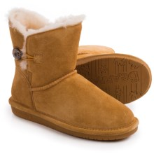 Bearpaw Rosie Boots - Sheepskin Lined (For Women) in Dark Honey - Closeouts