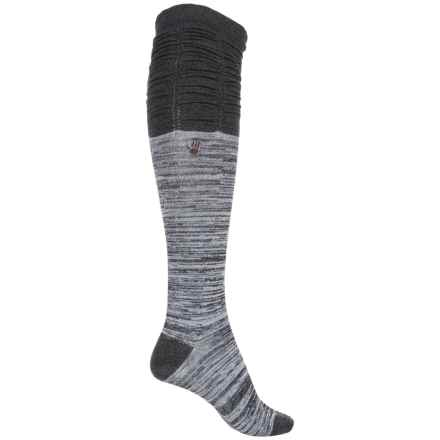 Bearpaw Scrunchy Knee-High Socks - Over the Calf (For Women) in Grey Heather - Closeouts