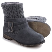 Bearpaw Shania Sheepskin Boots - Suede (For Women) in Charcoal - Closeouts