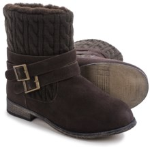 Bearpaw Shania Sheepskin Boots - Suede (For Women) in Chocolate Ii - Closeouts