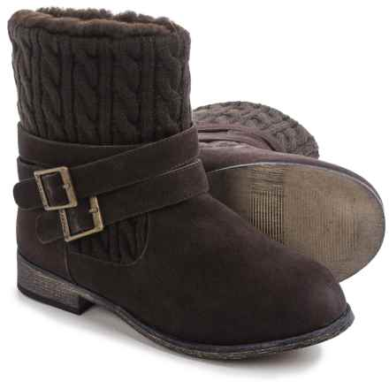 Bearpaw Shania Sheepskin Boots - Suede (For Women) in Chocolate - Closeouts