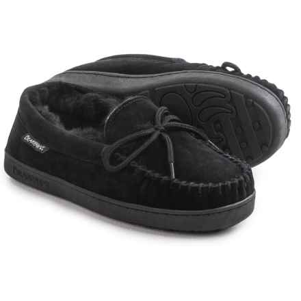 Bearpaw Sheepskin-Lined Moccasins (For Women) in Black - Closeouts