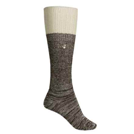 Bearpaw Slouchy Boot Socks - Over the Calf (For Women) in Brown/ - Closeouts
