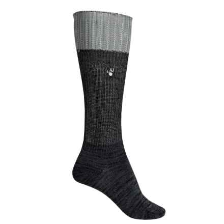Bearpaw Slouchy Boot Socks - Over the Calf (For Women) in Charcoal/Black - Closeouts