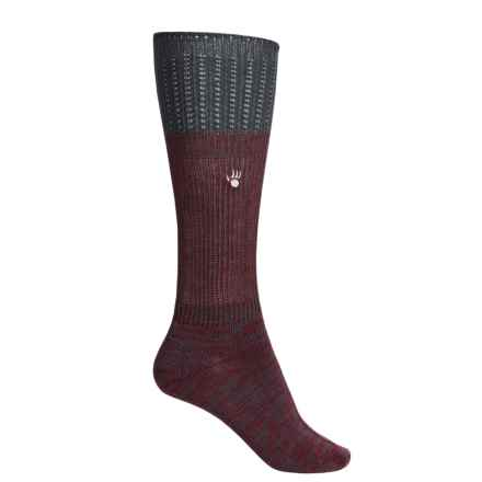 Bearpaw Slouchy Boot Socks - Over the Calf (For Women) in Maroon - Closeouts
