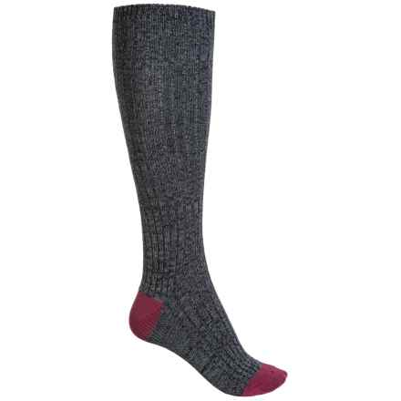 Bearpaw Slouchy Scrunch Socks - Over the Calf (For Women) in Bordeaux - Closeouts