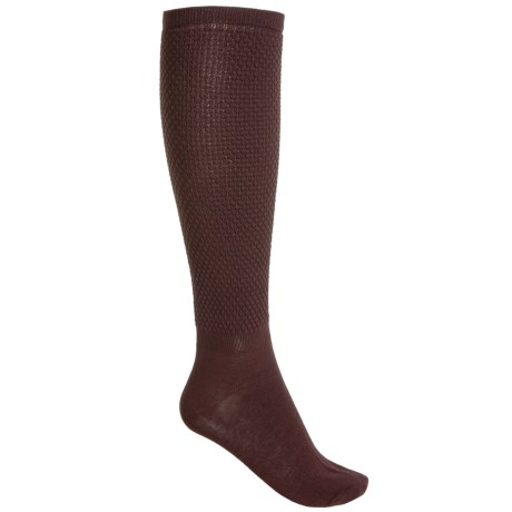 Bearpaw Slouchy Scrunch Socks - Over the Calf (For Women) in Textured Brown