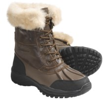 Bearpaw Stowe II Boots - Leather, Sheepskin Lining (For Men) in Maple - Closeouts