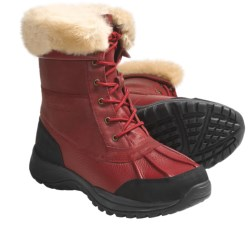 Bearpaw Stowe II Boots - Leather, Sheepskin Lining (For Men) in Redwood