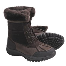 Bearpaw Stowe Winter Boots - Leather (For Men) in Chocolate - Closeouts