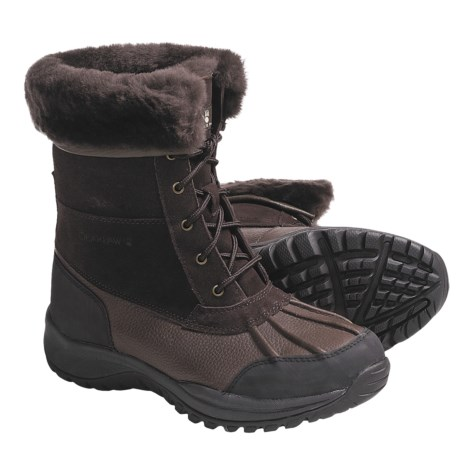 Bearpaw Stowe Winter Boots - Leather (For Men) in Chocolate