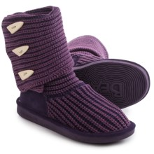 Bearpaw Tall Knit Boots (For Women) in Deep Purple - Closeouts