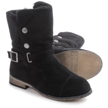Bearpaw Trisha Sheepskin Boots - Suede (For Women) in Black Ii - Closeouts