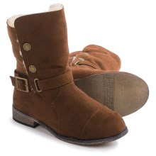 Bearpaw Trisha Sheepskin Boots - Suede (For Women) in Brown - Closeouts