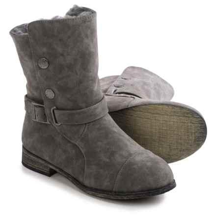 Bearpaw Trisha Sheepskin Boots - Suede (For Women) in Charcoal - Closeouts